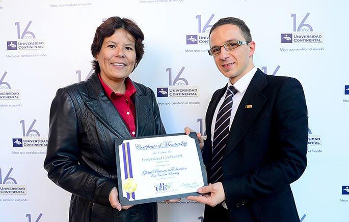 Universidad Continental, miembro de organización internacional Global Partners in Education
